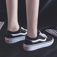 2019秋季新款帆布女鞋韩版百搭学生黑色布鞋夏季休闲潮鞋小鞋