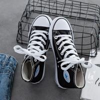 15春秋女孩帆布鞋子11高帮13中学生运动板鞋12岁女大童40码休闲鞋