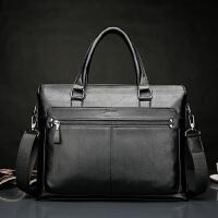 真皮男包男士手提包横款15.6寸电脑包商务包出差公文包手拎包
