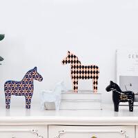 北欧瑞典达拉木马酒柜装饰品摆件客厅电视柜书房创意结婚礼物摆设