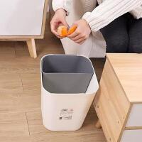 分类垃圾桶 家用分格分类干湿分离垃圾桶厨房两用双层无盖简约客厅垃圾筒纸篓