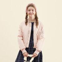 美特斯邦威棒球服女士2017秋季新款显瘦夹克外套潮734612商场同款
