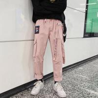 №【2019新款】冬天年轻人穿的裤子男士韩版潮流直筒工装裤宽松休闲裤长裤