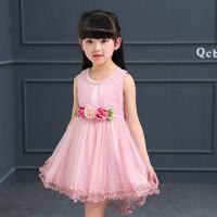 女童蕾丝连衣裙 韩版儿童童装女夏装女孩裙子公主裙
