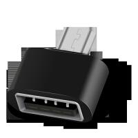 OTG数据线安卓通用usb3.0华为小米otg转接头OPPO魅族vivo安卓手机u盘转换器连接键盘鼠 迷你款黑色 l