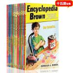 15册合售 Encyclopedia Brown 百科全书五年级神探小布朗 进口英文原版 儿童小说 中小学生课外阅读