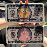 钞票海绵宝宝适用于iphone11手机壳苹果12硅胶套12promax软壳x/xs