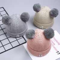 宝宝毛线帽子针织秋冬季儿童婴儿男童女孩潮