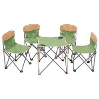春夏季户外便携式折叠椅 帆布桌椅5件套 钓鱼桌椅套装