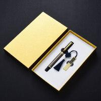 金属创意青铜签字笔32gu盘两件套装 复古典中国风高档送男士女士圣诞节礼物 公司会议年会礼品定制logo刻字