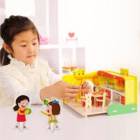 木丸子 儿童益智玩具女孩过家家拼装拼插积木玩具梦幻厨房