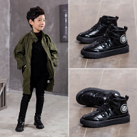 男童鞋子秋冬季儿童棉鞋男孩棉鞋加绒中大童鞋子