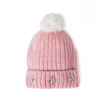 女童毛线帽学生女孩针织帽子保暖冬装儿童毛球帽130/150