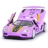 嘉业 仿真合金科尼赛克 经典三开声光回力儿童玩具车模型