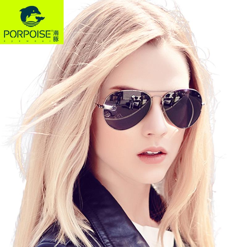 海豚2016偏光太阳眼镜飞行员蛤蟆镜司机开车墨镜驾驶镜男女同款潮超轻18克偏光镜片男女同款 可定制近视