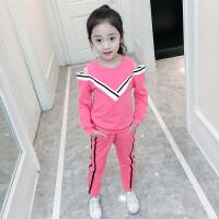 女童套装春装2018新款中大童儿童卫衣裤子韩版洋气女孩运动两件套