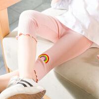 女童打底裤薄款七分裤夏装2018新款儿童裤子女宝宝夏季纯棉防蚊裤