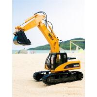 遥控工程车可充电合金挖机钩机儿童玩具车挖土机遥控挖掘机玩具