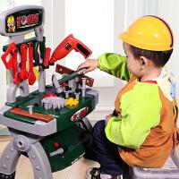 过家家儿童工具箱玩具套装螺丝刀仿真维修理台3-6岁男孩子宝宝电钻