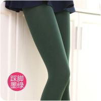 加绒肉色丝袜连裤袜秋冬季连体子女保暖显瘦打底裤袜