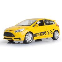 仿真谢尔比福特福克斯ST合金汽车模型 儿童回力玩具赛车