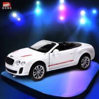 美致/MZ 合金车模型 仿真宾利欧陆 儿童回力玩具小汽车模型玩具车
