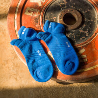 №【2019新款】女子运动休闲短袜棉质船袜户外跑步跳操打球透气排汗健身袜 均码