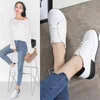 休闲鞋女学生小白鞋女板鞋韩版百搭运动鞋新款单鞋季厚底女鞋