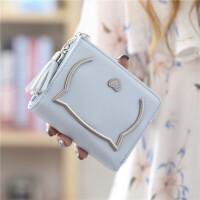 小钱包女短款韩版可爱两折多功能学生简约新款迷你零钱包