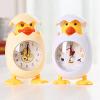 御目 闹钟 儿童卡通新款静音时尚个性小鸡塑料石英机芯小闹钟创意床头儿童学生上学计时器床头钟