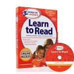 现货 英文原版正版Hooked on Phonics Learn to Read Pre-K Level 1带DVD儿