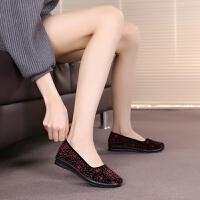 老北京女鞋单鞋妈妈鞋软底中老年鞋奶奶鞋