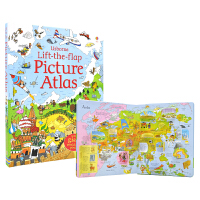 Usborne原版英文 Lift The Flap Picture Atlas 地图介绍翻翻书 儿童英语图书 英文原版