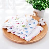【当当自营】萌宝(Cutebaby)6层印花口水巾方巾6条装 颜色*