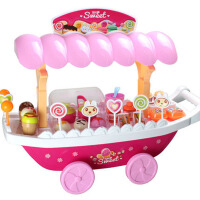 儿童仿真超市购物玩具过家家玩具女孩糖果店售卖推车娃娃家