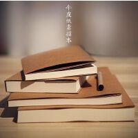 创意空白画画本16K牛皮纸手绘速写本素描本记事本子手账本 加厚日记本