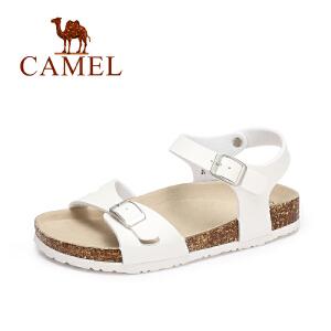Camel/骆驼女鞋  夏季新款 休闲防滑平底凉鞋 舒适轻便沙滩鞋