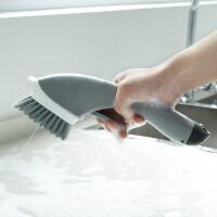 清洁刷 长柄加液加水锅刷碗刷家用灶台喷水刷厨房瓷砖水槽缝隙刷去污去油多功能洗洁精刷子