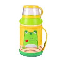 男女学生杯具熊保温杯儿童水壶带吸管宝宝便携防漏水杯子