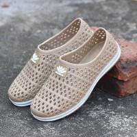 透气洞洞鞋沙滩鞋子男夏季新款凉鞋男士休闲防水塑料塑胶网面雨鞋