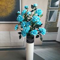 甜梦莱5头高品质仿真玫瑰花落地假花客厅摆放花卉绢花仿真花束装饰花