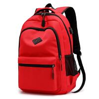中学生书包 帆布背包男士双肩包 女大学生小学生休闲旅行包新款