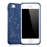 苹果5s手机壳 iPhoneSE保护套 苹果 iphone5s se 手机壳套 保护壳套 全包黑胶浮雕防摔硅胶软套男女