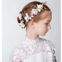 新年时尚儿童皇冠头饰 新款女童珍珠发箍演出发饰 水钻发卡公主发梳大号