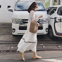 2019新款韩版中长款孕妇连衣裙春秋两件套时尚孕妇裙夏装孕妇春装