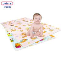 贝恩施 儿童爬行垫 加厚防潮可折叠游戏毯宝宝婴儿爬行毯防摔防滑