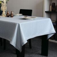 餐桌布 现代简约纯色西餐桌布布艺格子时尚茶几台布定做