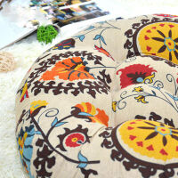 御目 沙发垫 大蒲团圆形坐垫阳台飘窗垫瑜伽垫布艺地毯地板打坐垫日式榻榻米禅修垫子满额减限时抢礼品卡创意家饰