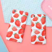 日韩小米5手机壳草莓小米note保护套5c磨砂超薄5s可爱6女款note3 小米6 手机壳 小米5手机壳
