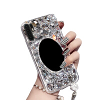 华为P30pro手机外壳HOW-AL00镶钻创意潮牌镜子硬HUAWEI P30pr0时尚how- 华为p30pro-镜子